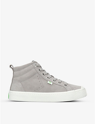 CARIUMA: Mens OCA High suede trainers