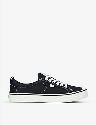 CARIUMA: Mens OCA Low organic-canvas trainers