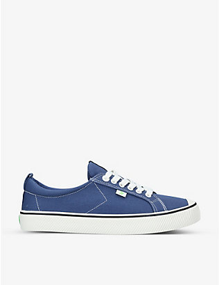 CARIUMA: Mens OCA organic-canvas trainers