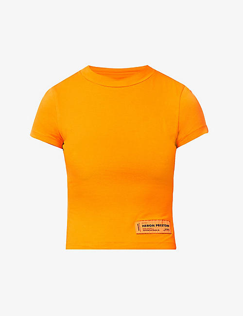 HERON PRESTON: Baby logo-print stretch-jersey T-shirt