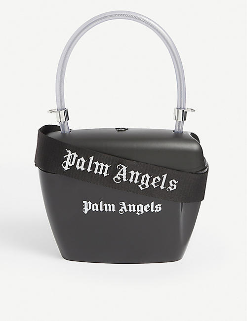 PALM ANGELS: Logo-print vinyl padlock bag
