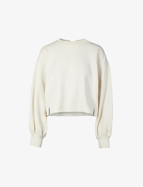 FRAME: Cloud cotton-jersey shirttail sweatshirt