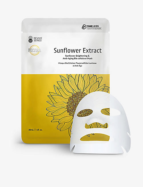 TIMELESS TRUTH MASK: Sunflower Brightening and Anti-Ageing bio cellulose mask 30ml