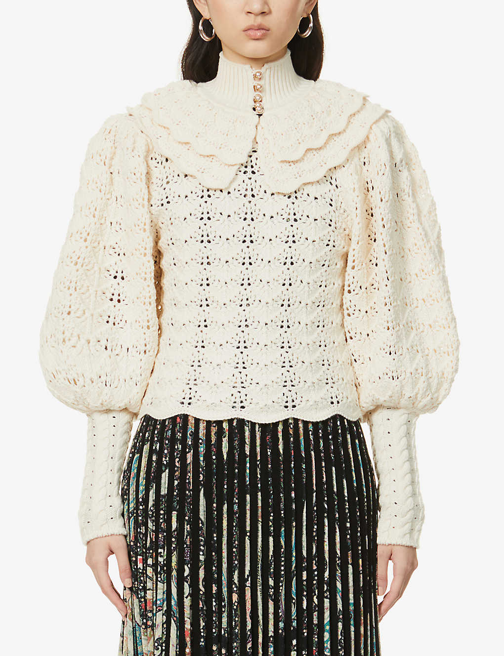 ZIMMERMANN: Crochet semi-sheer wool jumper