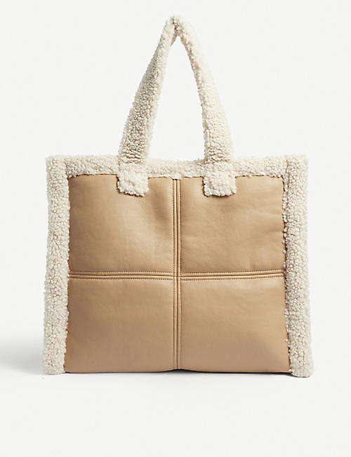 STAND: Lola faux-shearling tote