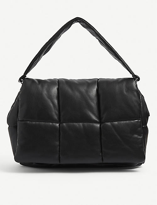 STAND: Wanda padded faux-leather clutch