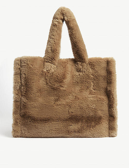STAND: Lola faux-fur tote bag