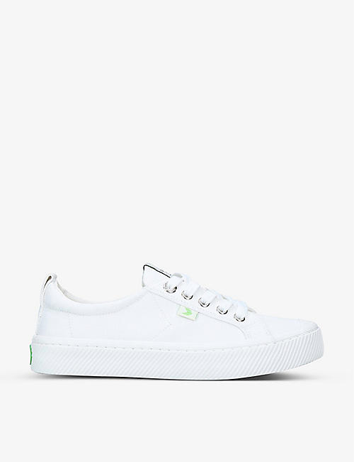 CARIUMA: Ladies OCA Low lace-up canvas trainers