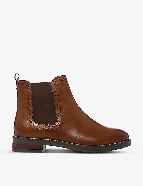 DUNE: Brogue-detail leather Chelsea boots