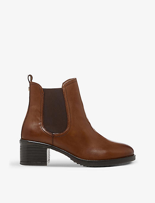 DUNE: Parker leather Chelsea boots