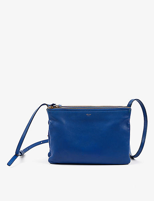 VESTIAIRE COLLECTIVE: Pre-Loved Céline Trio leather cross-body bag