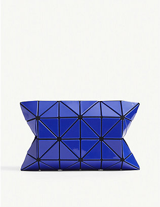 BAO BAO ISSEY MIYAKE: Lucent geometric vinyl pouch