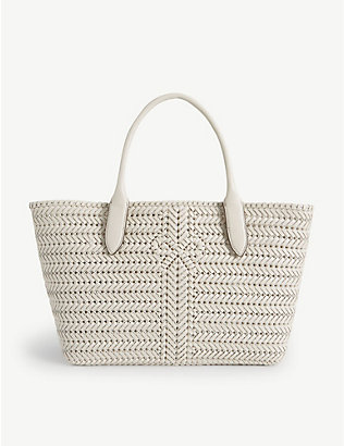 ANYA HINDMARCH: Neeson woven leather tote bag