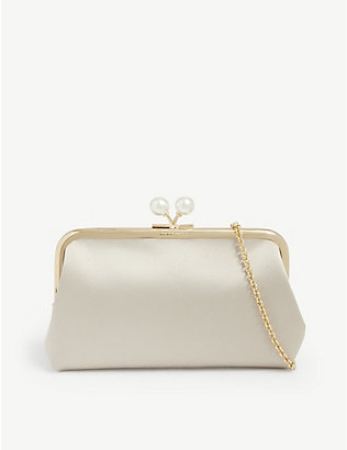 ANYA HINDMARCH: Maud recycled satin clutch