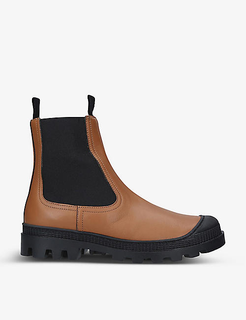 LOEWE: Chelsea leather ankle boots