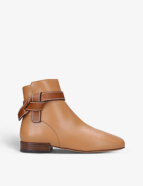 LOEWE: Gate 25 leather ankle boots