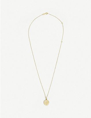 TILLY SVEAAS LTD: Compass gold-plated sterling silver necklace