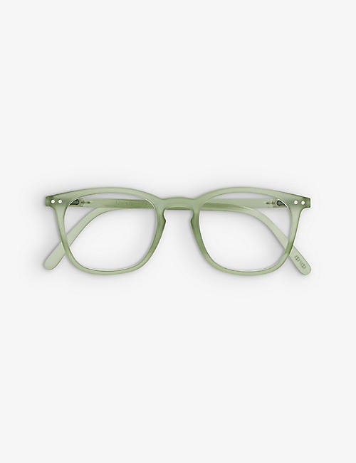 IZIPIZI: Reading #E trapezium-frame acetate eye glasses +1.0