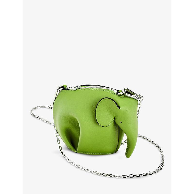 Loewe ELEPHANT NANO LEATHER SHOULDER BAG