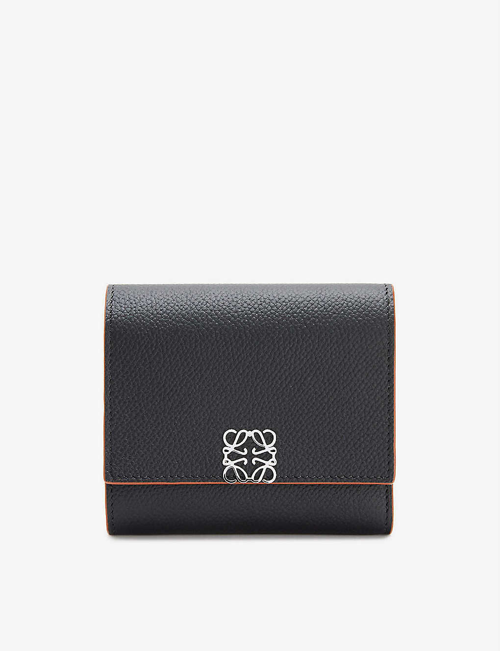 LOEWE: Anagram-embellished grained-leather wallet