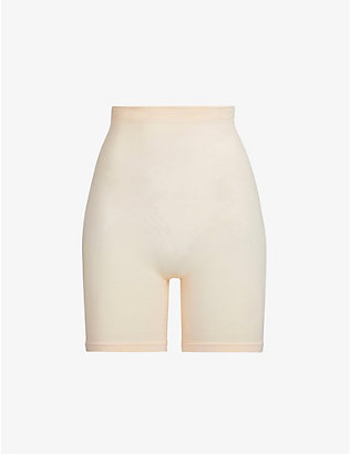 SKIMS: Sculpting high-rise stretch-woven shorts
