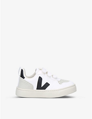 VEJA: V-10 logo-appliqué coated-cotton low-top trainers 2-5 years