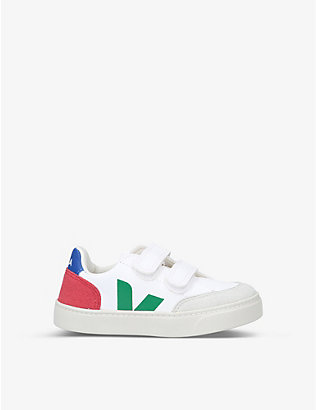 VEJA: V12 branded ChromeFree leather trainers 2-5 years