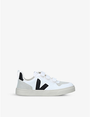 VEJA: V10 leather trainers 6-9 years