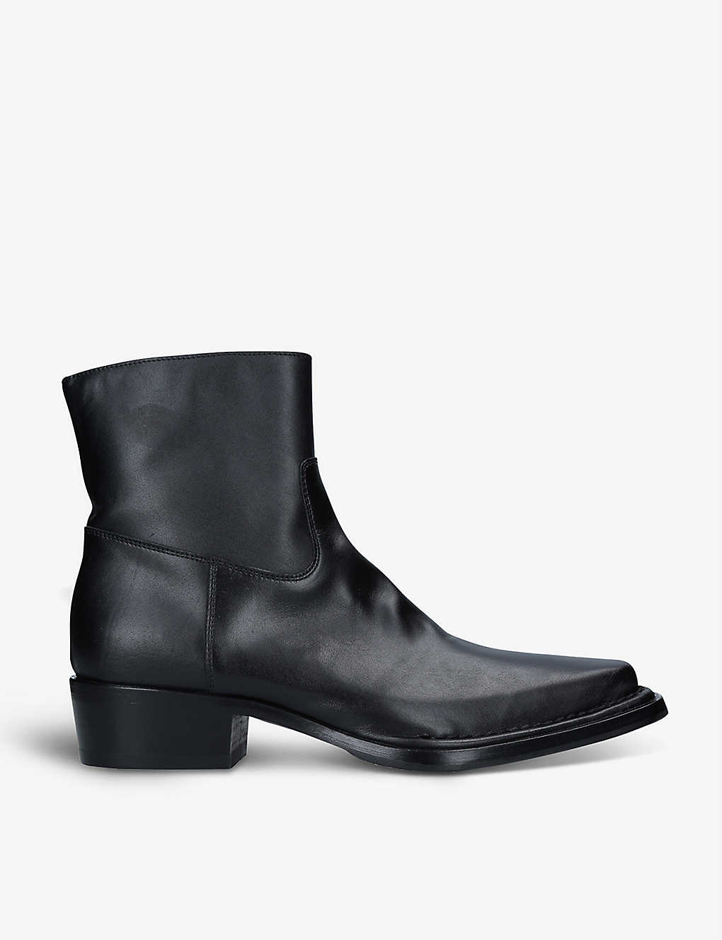 ACNE STUDIOS: Bruno pointed-toe leather ankle boots