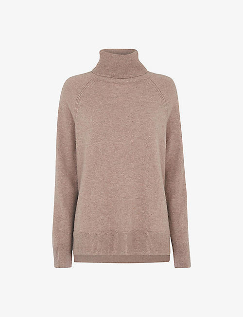 WHISTLES: Roll-neck cashmere jumper