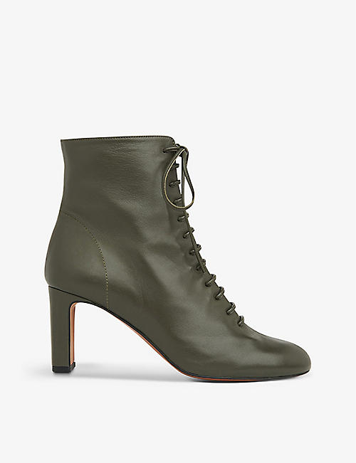 WHISTLES: Dahlia lace-up leather boots