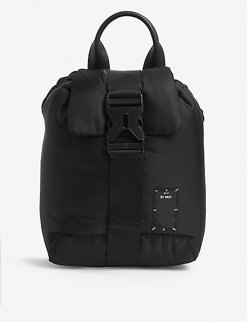 MCQ: Padded canvas backpack