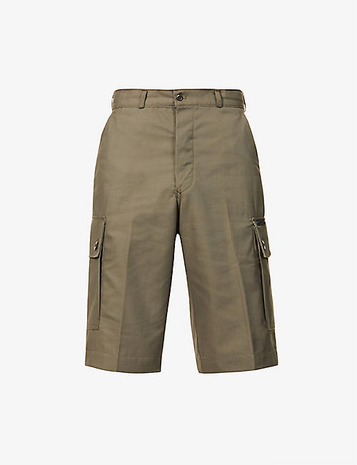RAEBURN: Airforce slim twill shorts