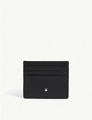 MONTBLANC: Meisterstück grained leather card holder