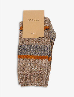 SESSUN: Atacama cotton-blend knitted socks