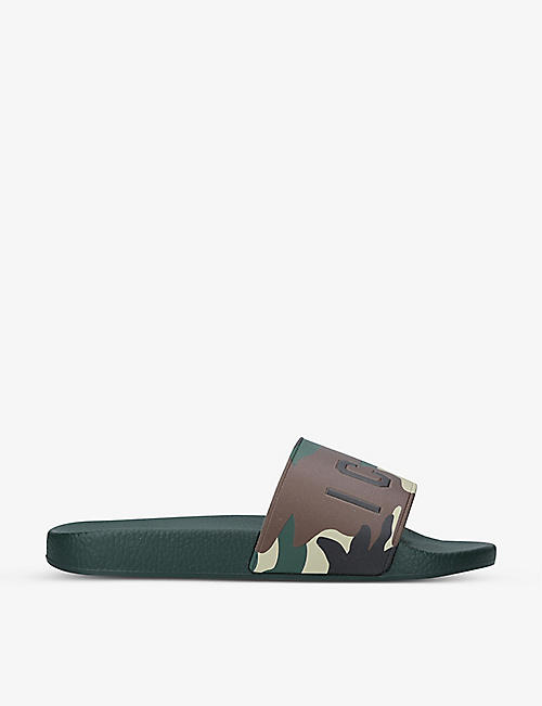 DSQUARED2: Icon logo-print rubber pool slides