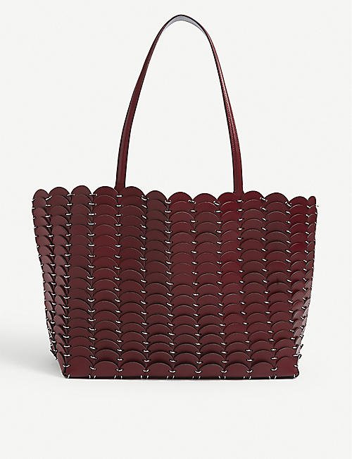 PACO RABANNE: Pacoio panelled leather tote bag