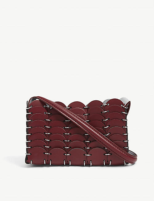 PACO RABANNE: Pacoio panelled leather cross-body bag