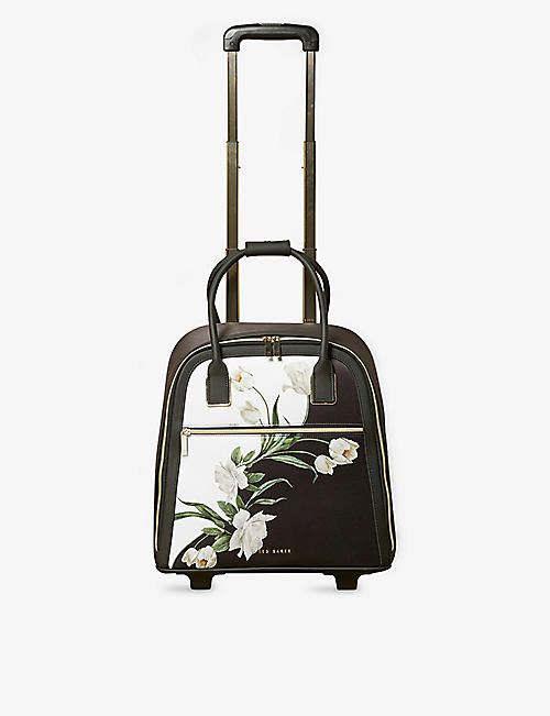 TED BAKER: Elderflower floral-print nylon travel bag