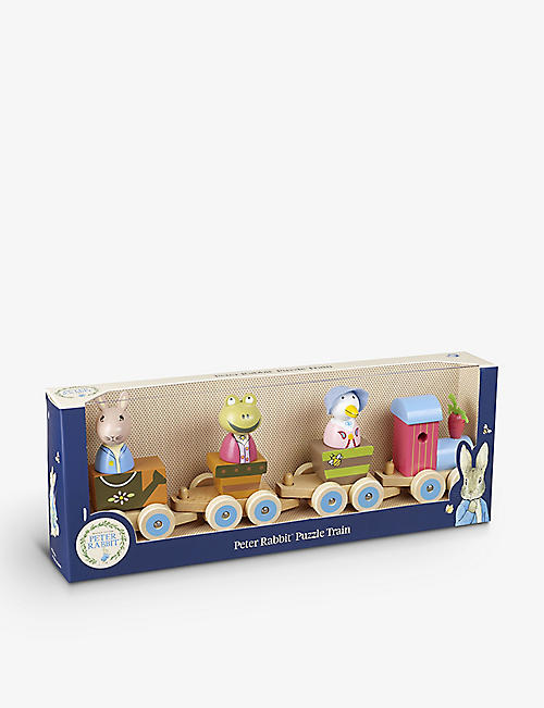 ORANGE TREE TOYS: Peter Rabbit wooden puzzle train
