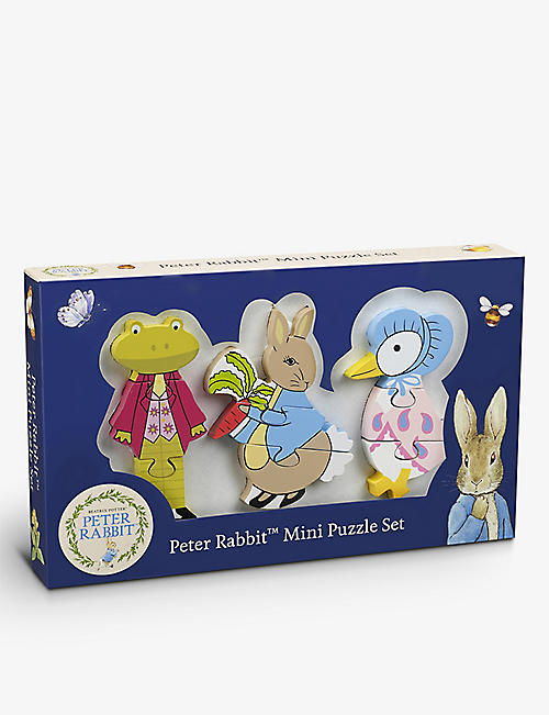 ORANGE TREE TOYS: Peter Rabbit wooden mini puzzle set