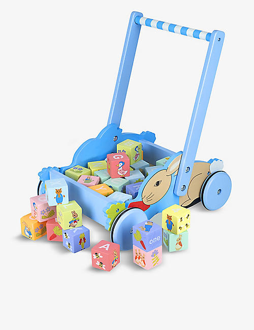 ORANGE TREE TOYS: Peter Rabbit Block Trolley (1)