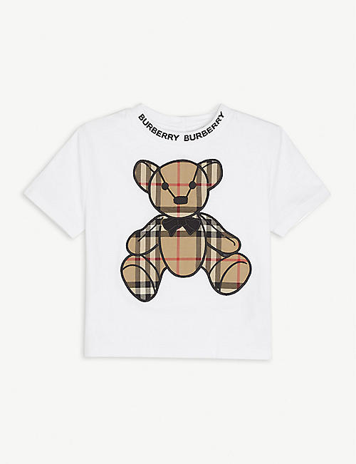 BURBERRY: Danny cotton T-shirt 6-24 months