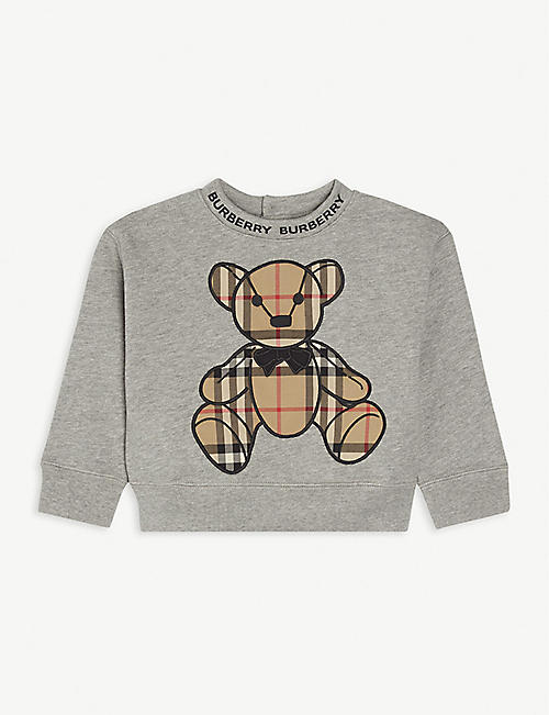 BURBERRY: Danny cotton sweatshirt 6-24 months