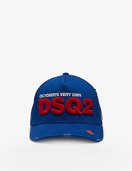 DSQUARED2 ACC: DSquared2 x OVO logo-embroidered cotton cap