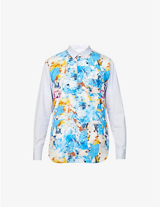 COMME DES GARCONS SHIRT: Futura graphic-print regular-fit cotton shirt