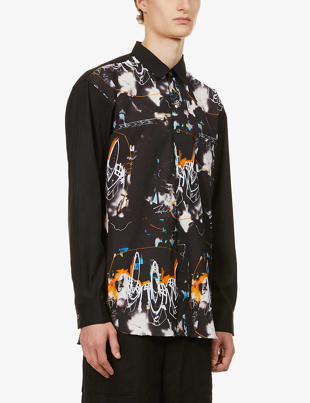 COMME DES GARCONS SHIRT: Futura abstract-print cotton shirt