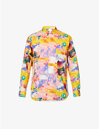 COMME DES GARCONS SHIRT: Futura graffiti-print regular-fit cotton shirt