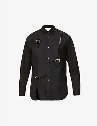 COMME DES GARCONS SHIRT: Dobby buckled regular-fit cotton shirt