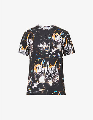COMME DES GARCONS SHIRT: Futura graffiti-print cotton-jersey T-shirt